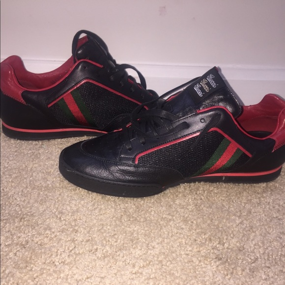 Gucci Shoes | Gucci Black Red And Green